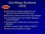 oral allergy syndrome oas