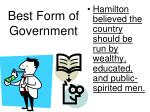 best form of government