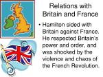 relations with britain and france