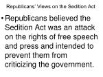 republicans views on the sedition act
