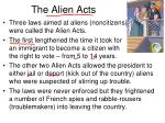 the alien acts