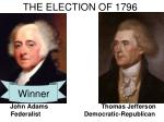 the election of 17961