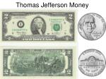 thomas jefferson money