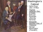 washington s cabinet