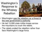 washington s response to the whiskey rebellion