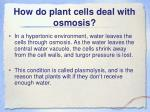 how do plant cells deal with osmosis1