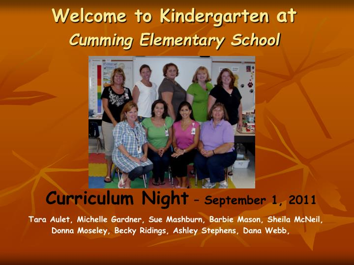 curriculum night september 1 2011 n.