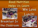 good nutrition helps us learn