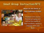 small group instruction rti