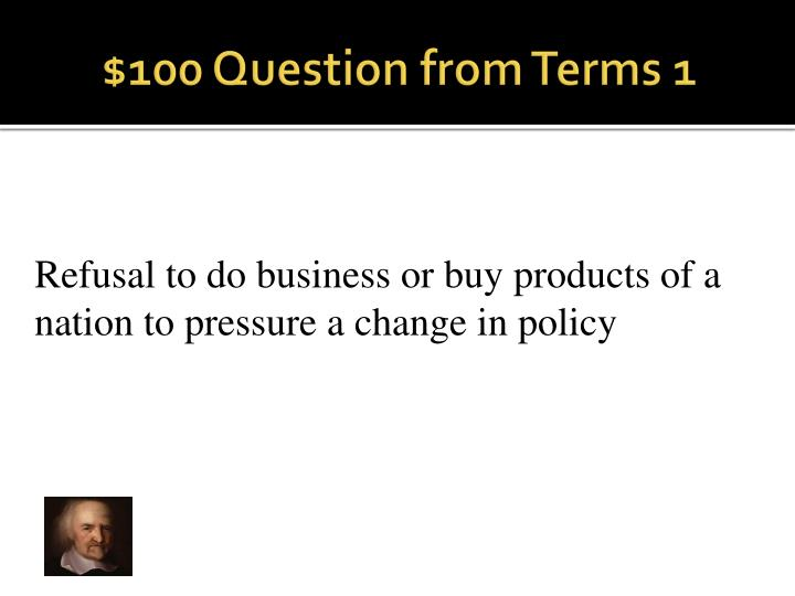 100 question from terms 1