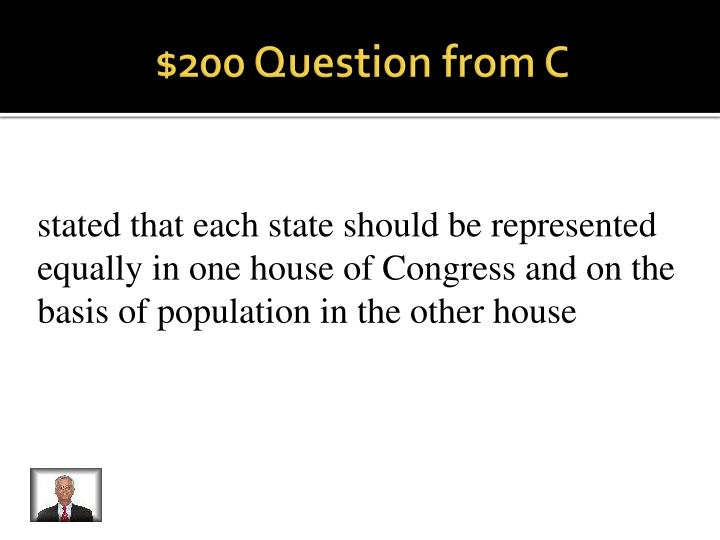 $200 Question from C