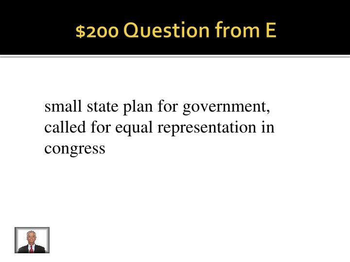 $200 Question from E