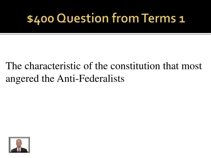 $400 Question from Terms 1