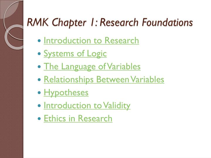 rmk chapter 1 research foundations n.