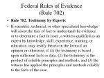 federal rules of evidence rule 702