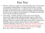 frye test