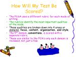 how will my test be scored