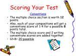 scoring your test
