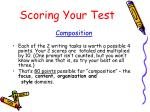 scoring your test1