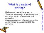what is a mode of writing