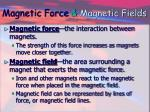 magnetic force magnetic fields
