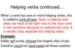 helping verbs continued1