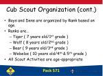 cub scout organization cont