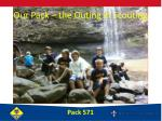 our pack the outing in scouting