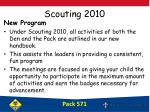 scouting 2010