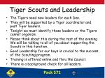 tiger scouts and leadership