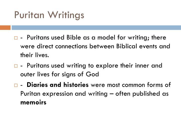 Puritan writings