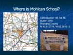 where is mohican school