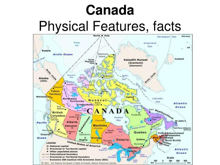 canada physical features facts n.