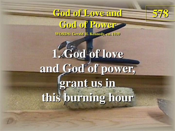 god of love and god of power verse 1 n.