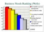 business needs ranking wells