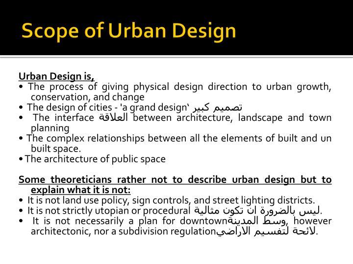 Scope of Urban Design