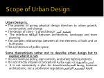 scope of urban design1