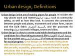 urban design definitions