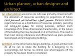 urban planner urban designer and architect