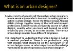 what is an urban designer