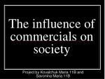 the influence of commercials on society