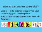 want to start an after school club
