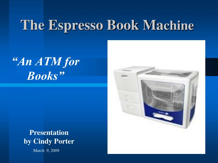the espresso book ma chine n.