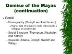 demise of the mayas continuation1