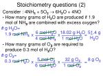 stoichiometry questions 2