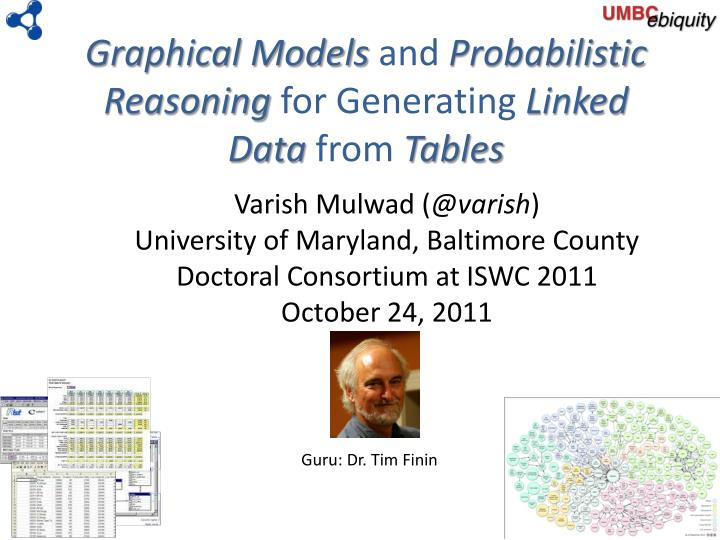 graphical models and probabilistic reasoning for generating linked data from tables n.