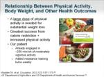 relationship between physical activity body weight and other health outcomes