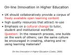 on line innovation in higher education