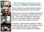 our developing repositories at worcester draw project found