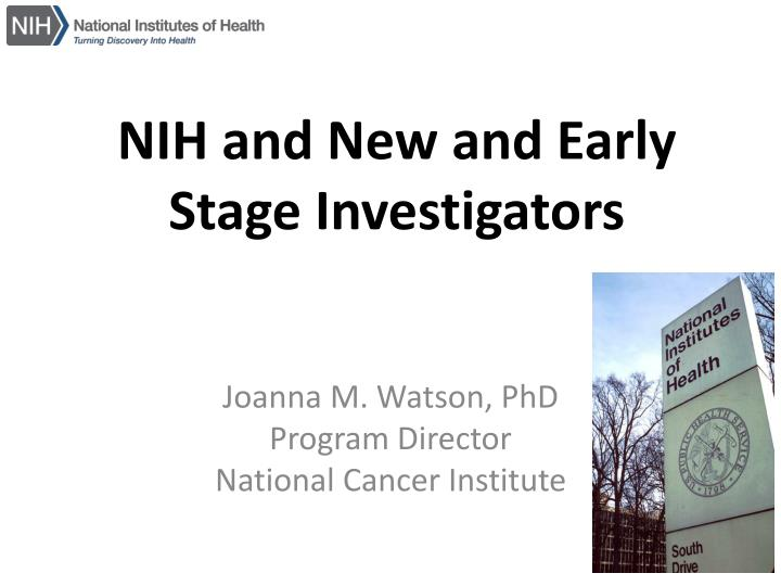 nih and new and early stage investigators n.